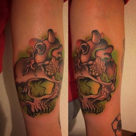 Tattoos - Fungal Skull Color Tattoo - 117737